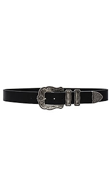 Dakota Belt in Black & Silver