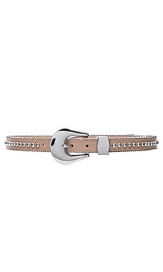 Barcelona Belt in Almond & Silver