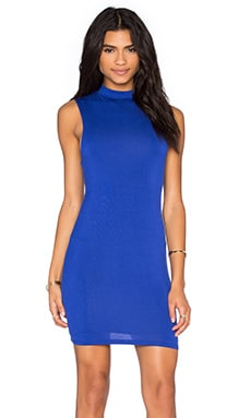 Mock Neck Dress in Royal Blue