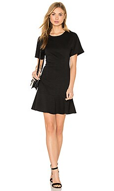 Ponte Tee Flare Dress in Black