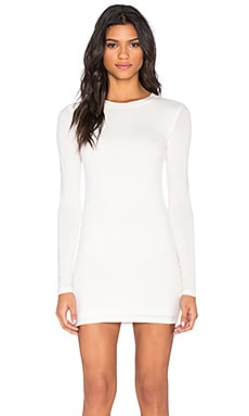 BLQ BASIQ Long Sleeve Dress in White