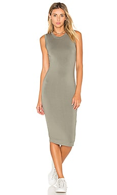 BLQ BASIQ Tank Midi Dress in Graphite