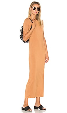 BLQ BASIQ Tee Maxi Dress in Caramel