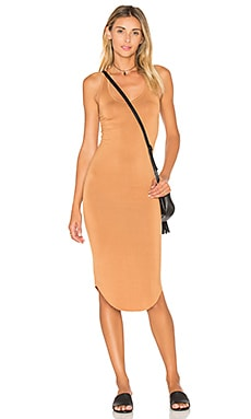 BLQ BASIQ Racer Tank Dress in Caramel