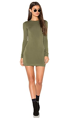 Long Sleeve Mini Dress in Martini