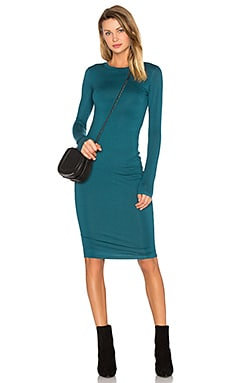 Long Sleeve Midi Dress in Teal