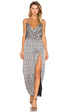 Snake Print Side Slit Dress