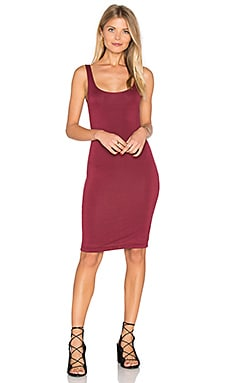 Back Slit Tank Midi Dress in Burgundy