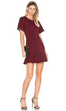 Tee Flare Dress in Wine