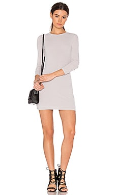 x REVOLVE Hacci Long Sleeve Mini Dress in Light Gray