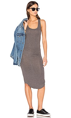 Racer Tank Dress in Charcoal