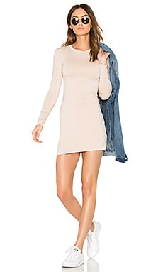 Mini Long Sleeve Dress in Creme