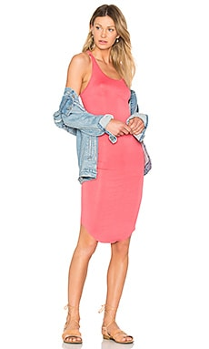 Racer Tank Dress in Coral