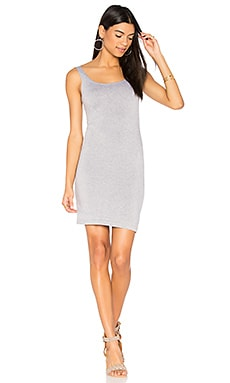 Fitted Midi Dress in Heather Grey