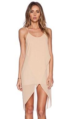 BLQ BASIQ Drape Dress in Tan