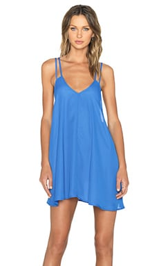 BLQ BASIQ Tank Dress in Denim Blue