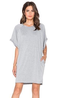 BLQ BASIQ T-Shirt Dress in Light Grey