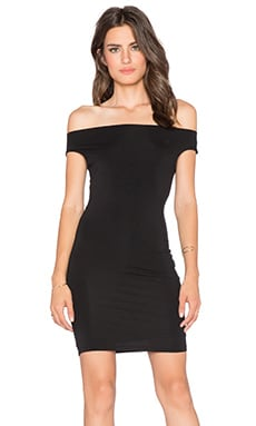BLQ BASIQ Off Shoulder Dress in Black