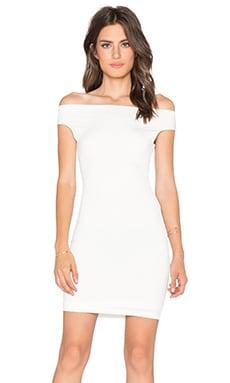 BLQ BASIQ Off the Shoulder Dress in White