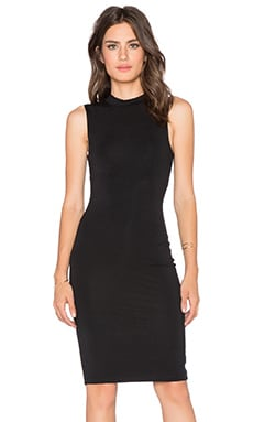 BLQ BASIQ High Neck Midi Dress in Black