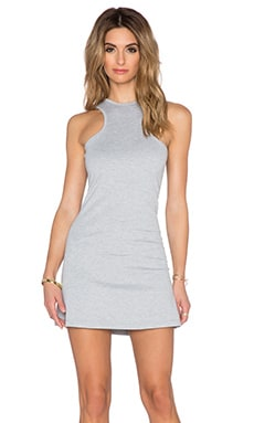 BLQ BASIQ Mini Dress in Heather Grey