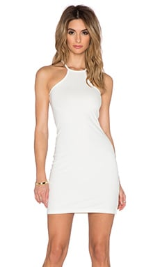 BLQ BASIQ Bodycon Racerback Dress in White