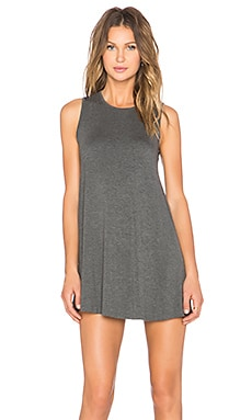 BLQ BASIQ Swing Dress in Charcoal