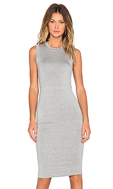 BLQ BASIQ Sleeveless Jersey Dress in Grey