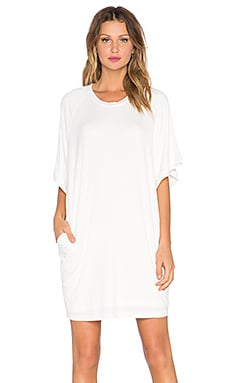 BLQ BASIQ Boxy Pocket Dress in Ivory