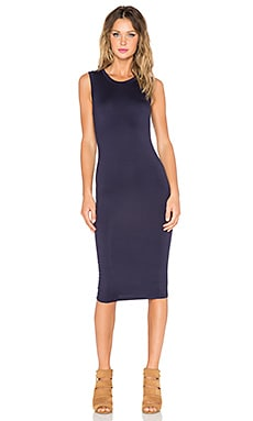 BLQ BASIQ Sleeveless Jersey Dress in Dark Navy