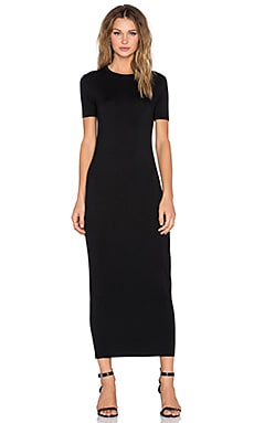 BLQ BASIQ Maxi T-Shirt Dress in Black