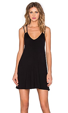 BLQ BASIQ V Neck Tank Dress in Black