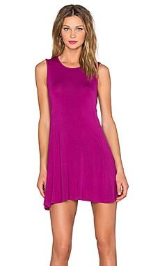 BLQ BASIQ Sleeveless Dress in Magenta