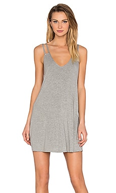 Double Strap Dress in Heather Grey