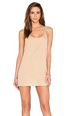 BLQ BASIQ Double Strap Mini Dress in Nude