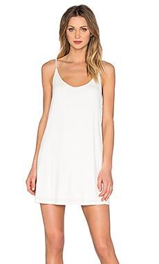 BLQ BASIQ Scoop Back Tank Dress in White
