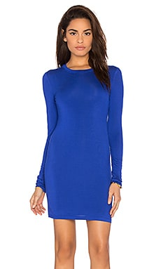 BLQ BASIQ Long Sleeve Dress in Royal Blue