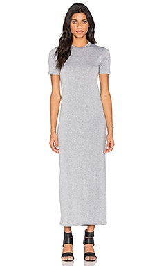 BLQ BASIQ Tee Maxi Dress in Heather Grey