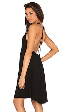Cross Back Tank Dress in Black