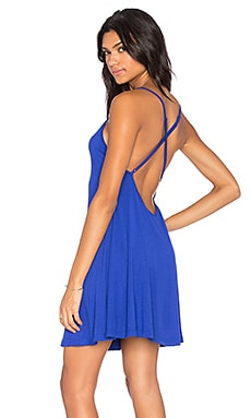 Cross Back Tank Dress in Royal Blue