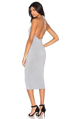 BLQ BASIQ Halter Midi Dress in Heather Grey