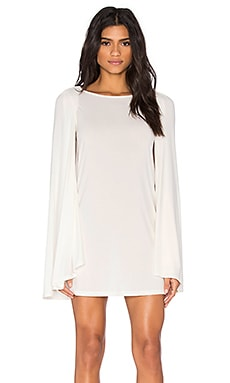 Cape Dress in White