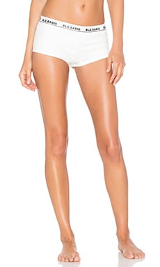 BLQ BASIQ Ponte Boy Short in White