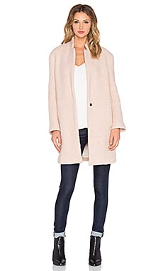 BLQ BASIQ Long Coat in Pale Pink