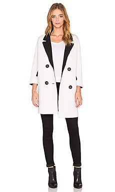 BLQ BASIQ Oversize Coat in White