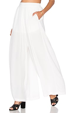 BLQ BASIQ Loose Pant in White