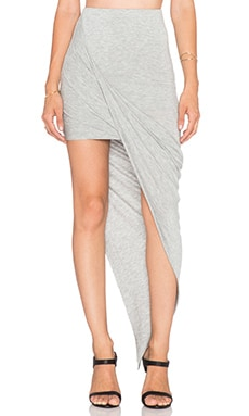 BLQ BASIQ Asymmetrical Skirt in Grey