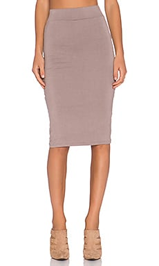 BLQ BASIQ Pencil Skirt in Taupe