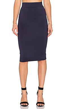 BLQ BASIQ Pencil Skirt in Dark Navy