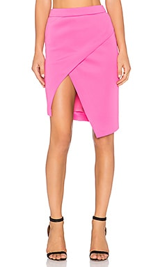 BLQ BASIQ Scuba Skirt in Pink